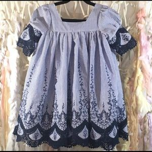 Toddler Short Sleeve Baby Doll Swing Easter  Dress